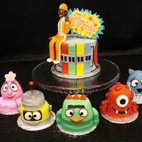 Yo Gabba Gabba Cake And Mini Cakes It's dancey dance time! The main cake is designed to look like the Gabba's boom box, it is buttercream with fondant accents. DJ...