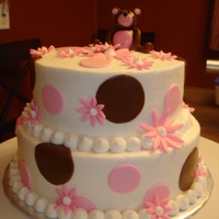 Bear Baby Shower Buttercream with fondant accessories.