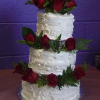 Practice Wedding Cake This cake was made as a trial cake, practiced it for a kids party before I make the real one for the wedding next week since it has been a...