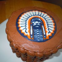 "University Of Illinois Illini Cake  6"" Chocolate cake with chocolate truffle filling and chocolate buttercream for an Illini fan (also obviously a fan of chocolate..."