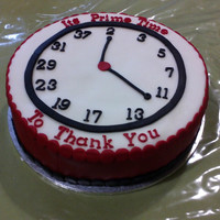 Its Time To Thank You This cake was made for a maths teacher to thank his staff for the hard work they did for the year. As you can see the clock's numbers...