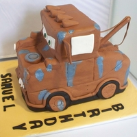 Mater Truck Choc mud covered in fondant. It was heavily raining for the last 2 weeks so this thing got so sweaty. Not happy with the covered. Very...