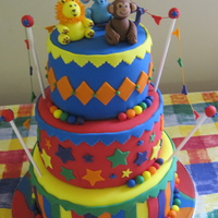 Circus Of The Stars Vbs Cake This cake was made for K4J VBS at my church last year. The theme was 'Circus of the Stars'. The animals are fondant and modeled...