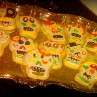 Day Of The Dead Cookies   NFSC with royal Icing. Designed to match cake.