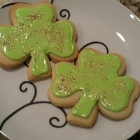 School Cookies NFSC with glaze and gold sugar