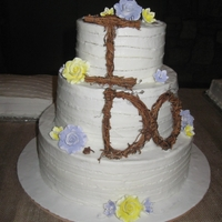 Rustic Wedding Cake   tiered buttercream cake