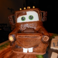 Tow Mater Cake Carved Tow Mater cake - all buttercream - fondant accessories