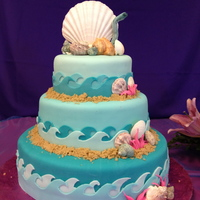 Under The Sea Quinceanera Cake AppleMark