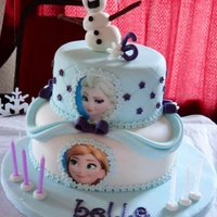 Frozen Birthday The frozen birthday cake I made for my niece (inspiration taken from Kimberley dawn cakes) it was a huge hit at the party.
