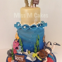 Under The Sea Mud cake, ganache, fondant and gum paste, airbrushed, all edible.