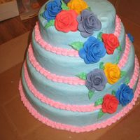 Img_5780.jpg BC frosted. fondant roses cascading down the sides. I'm not crazy about the colors but I what was asked!