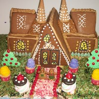 A Knock Off Of The Gingerbread House From True North Epsoide Of Once Upon A Time I Didnt Have A Template Or Anything So I Just Made It Up a knock off of the gingerbread house from True North epsoide of Once Upon a Time . I didn't have a template or anything so I just made...