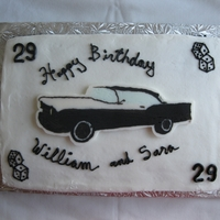 1957 Ford Fairlane 500 Frozen Buttercream Transfer