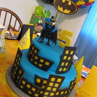 Batman Birthday Cake My daughter and I did this cake for my grandson's 5th birthday.