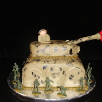 Tank This cake was for a friend of mine's son. He wanted a tank and wanted USMC on it because his dad was in the Marines. WASC with...