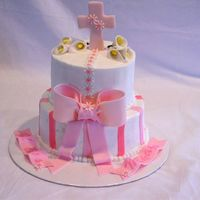 Girls Communion   buttercream with fondant accents
