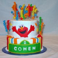 Elmo   Birthday cake for a 2 year old that loves elmo!