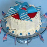 4Th Of July Pinwheel Cake