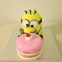 Minion My Little Minion Cake that I was inspired to do from a photo I seen for a competition tomorrow.