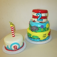 My First Dr Seuss Cake With Smash Cake To Match My first Dr. Seuss Cake with smash cake to match