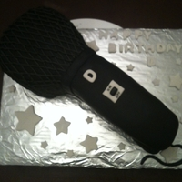Microphone Cake I made this cake for my niece's boyfriend who is an aspiring rapper. She wanted it to be a microphone.