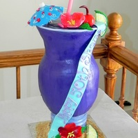 Purple Cocktail Birthday Cake This cake was quite the challenge to make. It's all marshmallow fondant and all cake. All of the details are MMF including the straw,...