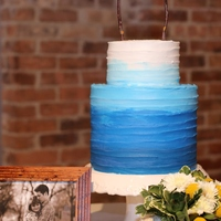 Double Barreled All Buttercream Ombre Wedding Cake Double Barreled All Buttercream Ombre Wedding Cake