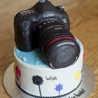 Canon Camera Cake   3D Camera cake made for a photographer :)