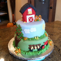 Farm Cake Farm birthday cake!