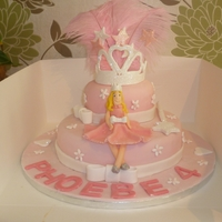 Phoebes 4Th Birthday Cake madeira cake covered with fondant