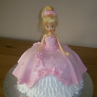 "Ava""s Cake sponge princess cake,dress made from mexican paste"