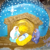 Nativity Cake For Church For Jesus's Birthday