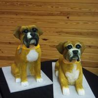 3D Boxers   Bodies are sculpted from cake and iced in buttercream; heads sculpted from styrofoam and covered with fondant.