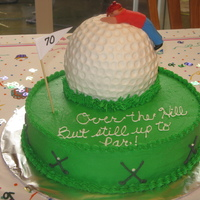 Golf Over The Hill Cake
