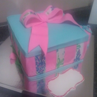 Lilly Pulitzer Bridal Showere Cake