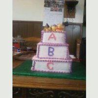 Abc Block Cake 3 Tier With Winnie The Pooh Characters   ABC Block Cake 3 tier with Winnie the Pooh Characters