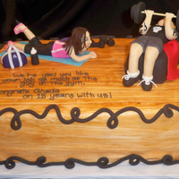 Guy At The Gym  This cake was made for a lady celebrating 15 years with her employer. She constantly talks about the guy she likes at the gym so her co...