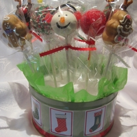 Luscious Lana's Sweet Treats   Christmas Cake Pops: Reindeer, Snowmen, Various Red & Green Pops, Gingerbread People, Choco-Candy Cane Pops
