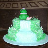 Frog Princess This was for my sister's baby shower, thank goodness. The vines and flowers are royal icing and the rest is buttercream icing. The...