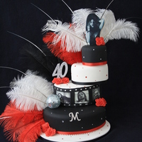 A Friend Asked Me To Make Him A Cake That Was Themed Glamour N Disco This Is What He Got He Said It Was A Bit Camp A Lot Him  A friend asked me to make him a cake that was themed glamour n disco. This is what he got! He said it was a bit camp, a lot 'him&#039...