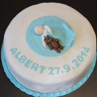 Christening Cake For A Very Sweet Baby Boy Christening cake for a very sweet baby boy