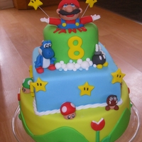Super Mario My sons birthday cake. He loves playing Super Mario games so I looked hard for inspiration, he loved it.