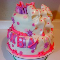 Baby Shower All Pink And Girly Client choise her own design and colors - 8 in and 10 in tfl