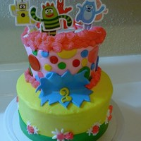 Yo Gabba Gabba Girl Cake Actually this was cake my kids and I did ,, so Its alitle kid friendly lol .. but it turned out ok , for a little girl we know .. my 10 and...