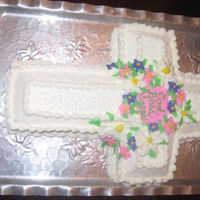 First Communion Cross Cake W/bc