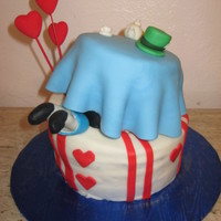 Alice In Wonderland Mad Hatter Topsy Turvy Cake My first topsy turvy cake