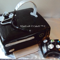 Black Xbox 360 with headset and controller TFL!!
