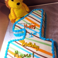 Lil Lion Turns One made to match bdayboys toy lion