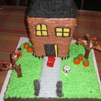 Monster House Cake My sons favorite movie was monster HOuse, so he insisted on a cake like that. it was an october birthday so that helped me with the...