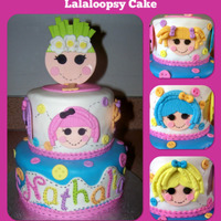 Lalaloopsy Cake Lalaloopsy Cake Covered in fondant. Decorations are made from fondant and gumpaste. Idea for cake came from fellow cake post.